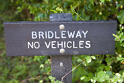Bridleway sign post