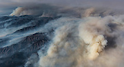 A northwesterly breeze pushes smoke inland and stokes the Soberanes fire below. ©2016 Sivani Babu