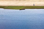 The bank of the Ayeyarwady River in Bagan, Myanmar (Burma).