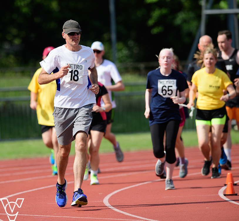 Metro Blind Sport's 2017 Athletics Open held at Mile End Stadium.  5000m.  David Beynon<br /> <br /> Picture: Chris Vaughan Photography for Metro Blind Sport<br /> Date: June 17, 2017