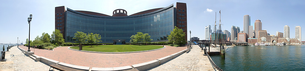 Panorama downtown Boston at Moakley Court House