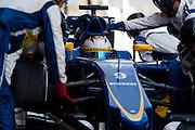 February 26-28, 2015: Formula 1 Pre-season testing Barcelona : Marcus Ericsson, Sauber Ferrari, pitstop
