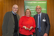 Gerry Marshall, trustee of The Howard League for Penal Reform presents Community Awards 2017 at the the  'Policing the community' conference . The King's Fund, London, 8 November 2017