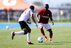 Opi Edwards of Bristol City during the 2nd leg of the match after the previous day's game was abandoned at half time due to extreme weather - Rogan/JMP - 14/07/2019 - IMG Academy, Bradenton - Florida, USA - Bristol City v Derby County - Pre-Season Tour Day 3.