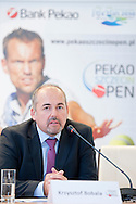 Krzysztof Bobala during press conference before tennis tournament Pekao Szczecin Open 2013 in Pekao Bank in Warsaw..<br /> <br /> Poland, Warsaw, September 09, 2013<br /> <br /> Picture also available in RAW (NEF) or TIFF format on special request.<br /> <br /> For editorial use only. Any commercial or promotional use requires permission.<br /> <br /> Photo by © Adam Nurkiewicz / Mediasport
