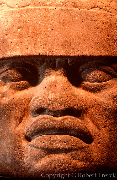 MEXICO, MEXICO CITY, MUSEUM Olmec; giant stone head 1200-600BC