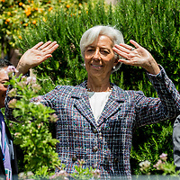 Taormina 27-05-2017 G7, Final Photofamily of the Leaders; Christine Lagarde