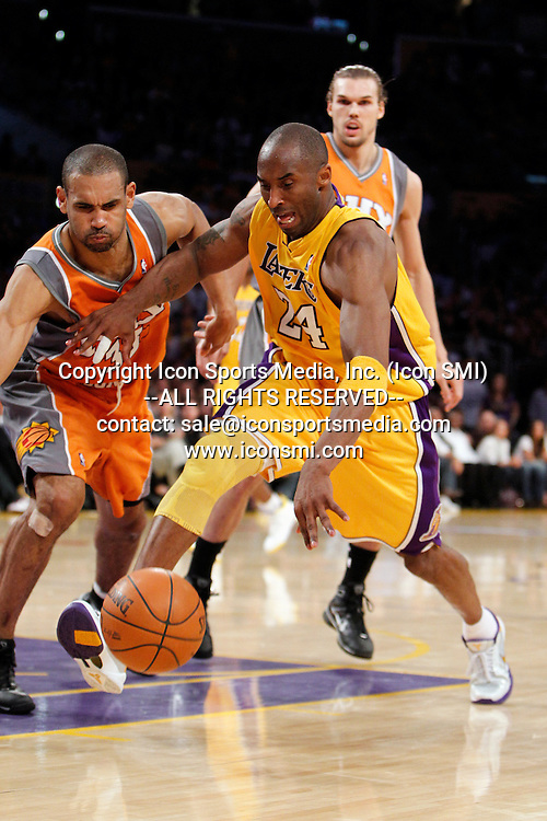 19 May 2010: Grant Hill (33) and Kobe Bryant (24) during game 2 of the NBA Playoffs Western Conference Finals between the Phoenix Suns and the Los Angeles Lakers at the Staples Center in Los Angeles, CA.
