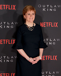 Outlaw King Premiere, Edinburgh, Friday 19th October 2018<br /> <br /> Outlaw King is a Netflix film and follows 14th century Scottish king Robert the Bruce prior to his coronation and through to his rebellion against the English, who at the time were occupying Scotland.<br /> <br /> Stars, crew and guests appear on the red carpet for the Scottish premiere.<br /> <br /> Pictured: First Minister Nicola Sturgeon<br /> <br /> Alex Todd | Edinburgh Elite media