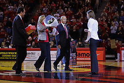 28 December 2009: Dr.Sheaon Zenger, Linda Bowman and President Al Bowman honor  Kristi Cirone - Illinois State University paid tribute to Kristi Cirone by raising a banner and retiring the Ladies Jersey #10, the number she wore for 4 years as a Redbird.  It was Kristi Cirone night, but The Blue Demons of DePaul University cling to the lead beating the Redbirds of Illinois State University by a score of 63-61 on Doug Collins Court in Redbird Arena in Normal Illinois.