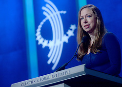 Chelsea Clinton at the annual meeting of the Clinton Global Initiative (CGI) in New York City, NY, USA, on Monday, September 19, 2016. The annual CGI meetings bring together heads of state, leading CEOs, philanthropists, and members of the media to facilitate discussion and forward-thinking initiatives that challenge the way we impact the future. Photo by Dennis van Tine/ABACAPRESS.COM