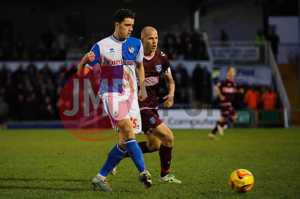Bristol Rovers Midfielder Oliver Norburn (ENG) in action during the match - Photo mandatory by-line: Rogan Thomson/JMP - Tel: Mobile: 07966 386802 - 21/12/2013 - SPORT - FOOTBALL - Memorial Stadium, Bristol - Bristol Rovers v Portsmouth - Sky Bet League Two.