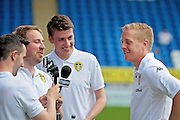 Gary Monk being interviewed by Leeds TV before the Pre-Season Friendly match between Peterborough United and Leeds United at London Road, Peterborough, England on 23 July 2016. Photo by Nigel Cole.