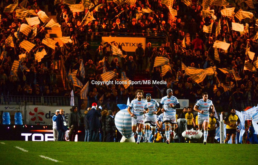 Entre des joueurs  - 20.12.2014 - Racing Metro 92 / La Rochelle - 13eme journee de Top 14<br /> Photo : Dave Winter / Icon Sport