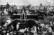 Lord Balfour declaring the Hebrew University, Jerusalem, Palestine 1925. Arthur James Balfour (1848–1930) British Conservative politician and statesman.   UK Prime Minister 1902-1905.