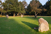Nine Ladies Stone Circle, Stanton Moor, Derbyshire, UK. Tradition says 9 girls were turned to stone for dancing on a Sunday