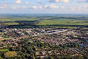 Nederland, Utrecht, Woerden, 15-07-2012; overzicht Woerden, gezien vanuit het Noorden..The village of Woerden (central Netherlands)luchtfoto (toeslag), aerial photo (additional fee required).foto/photo Siebe Swart
