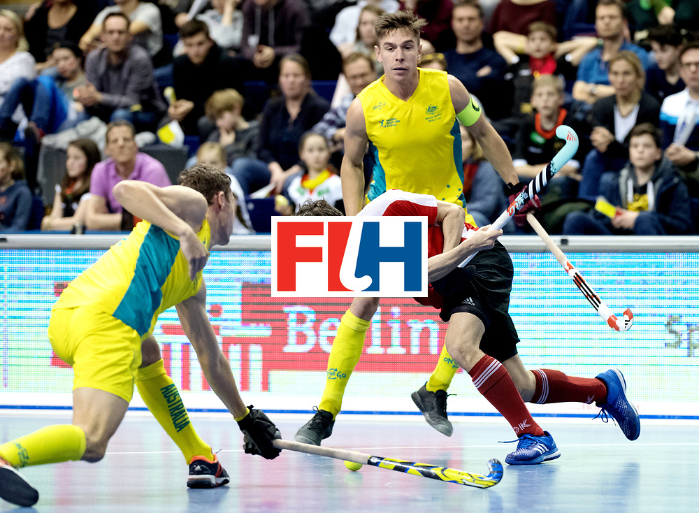 BERLIN - Indoor Hockey World Cup<br /> Semi-final 2: Australia - Austria<br /> foto: Alexander Bele.<br /> WORLDSPORTPICS COPYRIGHT FRANK UIJLENBROEK