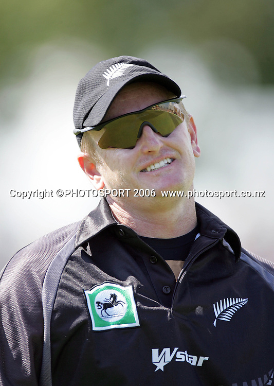 NZ's Scott Styris during the 3rd Chappell Hadlee one day match at Seddon Park, Hamilton, New Zealand on Tuesday 20 February 2007. Photo: Andrew Cornaga/PHOTOSPORT<br /> <br /> <br /> 200207