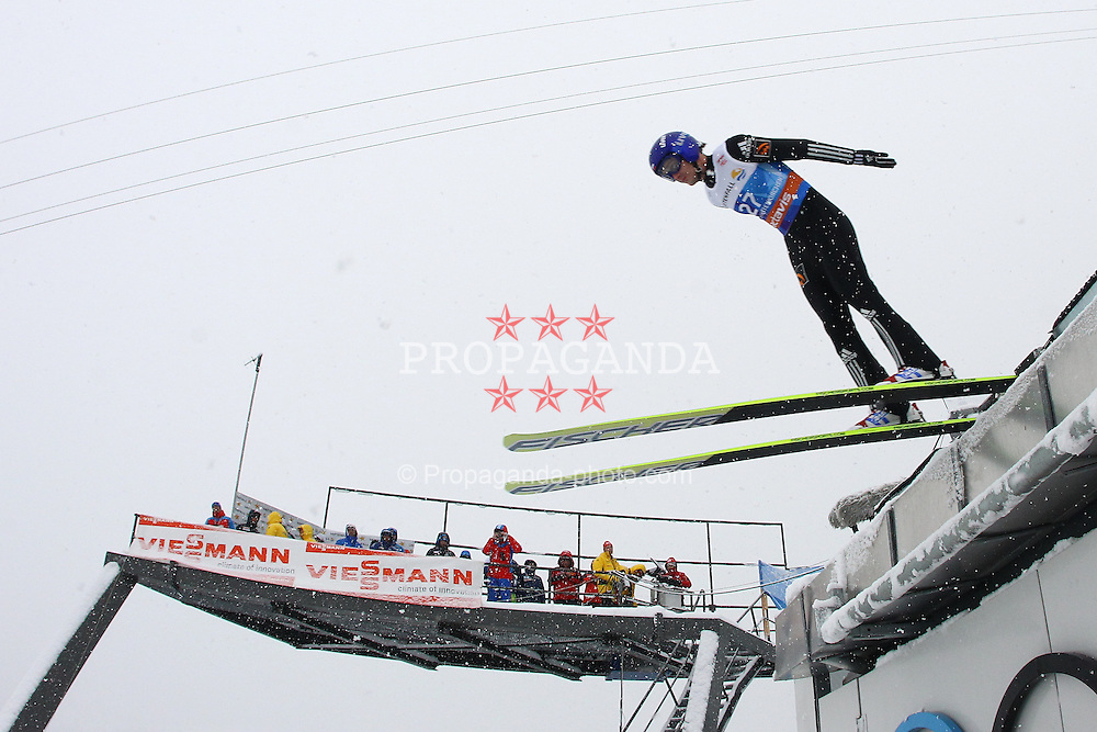 31.12.2011, Olympia Skisprungschanze, Garmisch Partenkirchen, GER, 60. Vierschanzentournee, FIS Ski Sprung Weltcup, Training, im Bild Dimitry IPATOV (RUS) // Dimitry IPATOV (RUS) during a practice session of 60th Four-Hills-Tournament FIS World Cup Ski Jumping at Olympia Skisprungschanze, Garmisch Partenkirchen, Germany on 2011/12/31. EXPA Pictures © 2011, PhotoCredit: EXPA/ Sven Kiesewetter