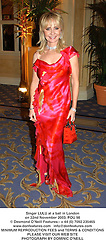 Singer LULU at a ball in London on 22nd November 2003.POU 98