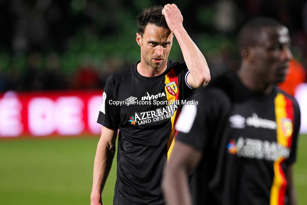 Deception Lens - Jerome LEMOIGNE - 18.04.2015 - Metz / Lens - 33eme journee de Ligue 1<br />Photo : Fred Marvaux / Icon Sport