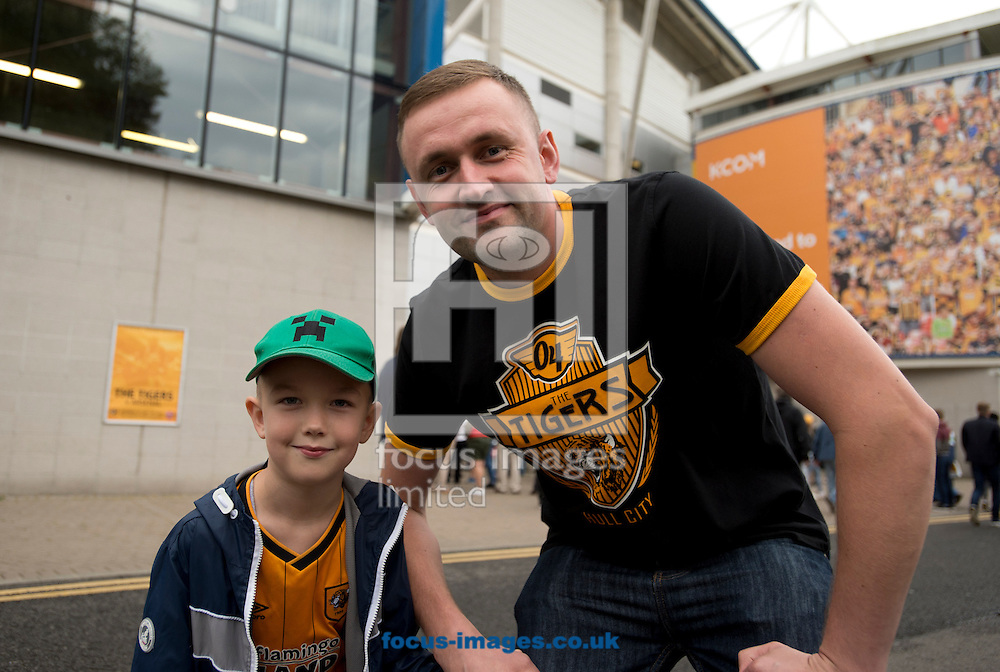 Hull City fans before the Premier League match at the KCOM Stadium, Hull<br /> Picture by Russell Hart/Focus Images Ltd 07791 688 420<br /> 27/08/2016