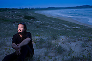 Wand Murders Story. Richard Lawson in the Green Hills on Wanda Beach looking across to Kurnell..