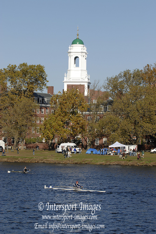 Boston, Massachusetts, Senior Master Women's Single,W1X from the Weeks Footbridge, competing in the Forty second Head of the Charles, 21/10/2006.  Photo  Peter Spurrier/Intersport Images...[Mandatory Credit, Peter Spurier/ Intersport Images] Rowing Course; Charles River. Boston. USA