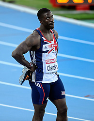 28.07.2010, Olympic Stadium, Barcelona, ESP, European Athletics Championships Barcelona 2010, im Bild Dwain Chambers after the first 100 meter EXPA Pictures © 2010, PhotoCredit: EXPA/ nph/ . Ronald Hoogendoorn+++++ ATTENTION - OUT OF GER +++++