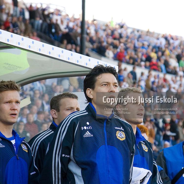 Jari Litmanen. Suomi-Serbia, EM-karsinta, Olympiastadion. Helsinki 2.6.2007. Photo: Jussi Eskola