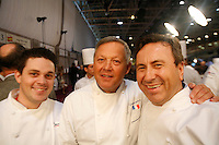 Gavin Kaysen, Georges Blanc, Daniel Boulud au Bocuse d'Or, Lyon..27 jan, 3009