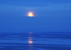 Moonrise on Lake Ladoga, Europe's biggest body of water, at 7,000 square miles.