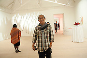 Haris Purnomo, Indonesian Eye Contemporary Art Exhibition Reception, Saatchi Gallery. London. 9 September 2011. <br /> <br />  , -DO NOT ARCHIVE-© Copyright Photograph by Dafydd Jones. 248 Clapham Rd. London SW9 0PZ. Tel 0207 820 0771. www.dafjones.com.