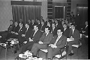 28/12/1962<br /> 12/28/1962<br /> 28 December 1962<br /> Goodbody's Conference at the South County Hotel, Dublin. The conference seems to have been to promote Kleenex for Men tissues, Goodbodys Ltd. may have been the distributers. Image shows some of the attendees at the event.