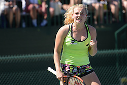 March 11, 2017 - Indian Wells, California, United States - KATERINA SINIAKOVA in her match vs. C. Navarro in the BNP Paribas Open tennis tournament in Indian Wells California. (Credit Image: © Christopher Levy via ZUMA Wire)