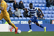 Andy Yiom (17) of Reading during the EFL Sky Bet Championship match between Reading and Preston North End at the Madejski Stadium, Reading, England on 19 October 2019.