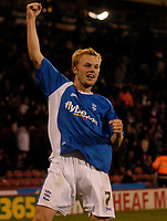 Photo: Jed Wee.<br /> Sheffield United v Birmingham City. Carling Cup. 24/10/2006.<br /> <br /> Birmingham's Sebastian Larsson celebrates.