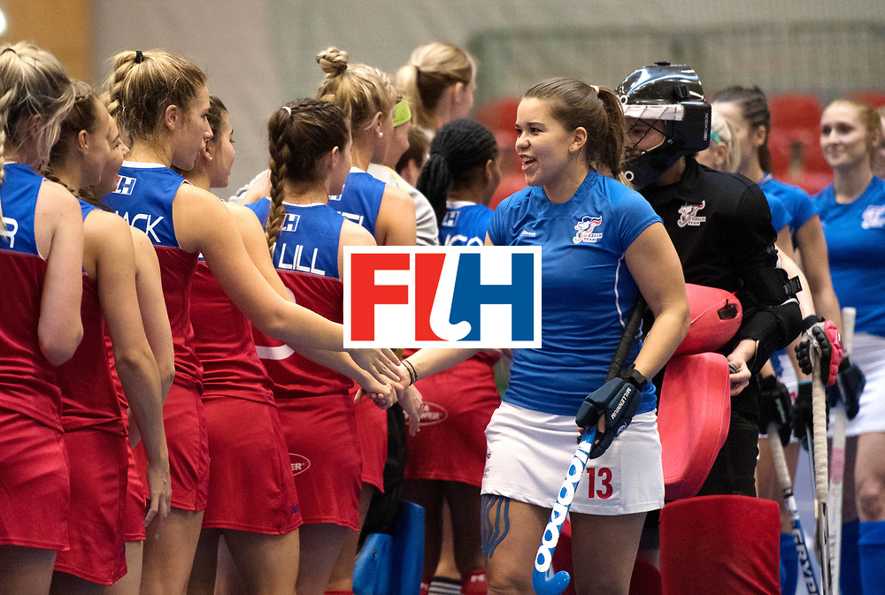 BERLIN - Indoor Hockey World Cup<br /> Czech Republic - Namibia<br /> foto: line up<br /> WORLDSPORTPICS COPYRIGHT FRANK UIJLENBROEK