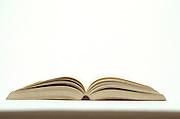 Still life of open book