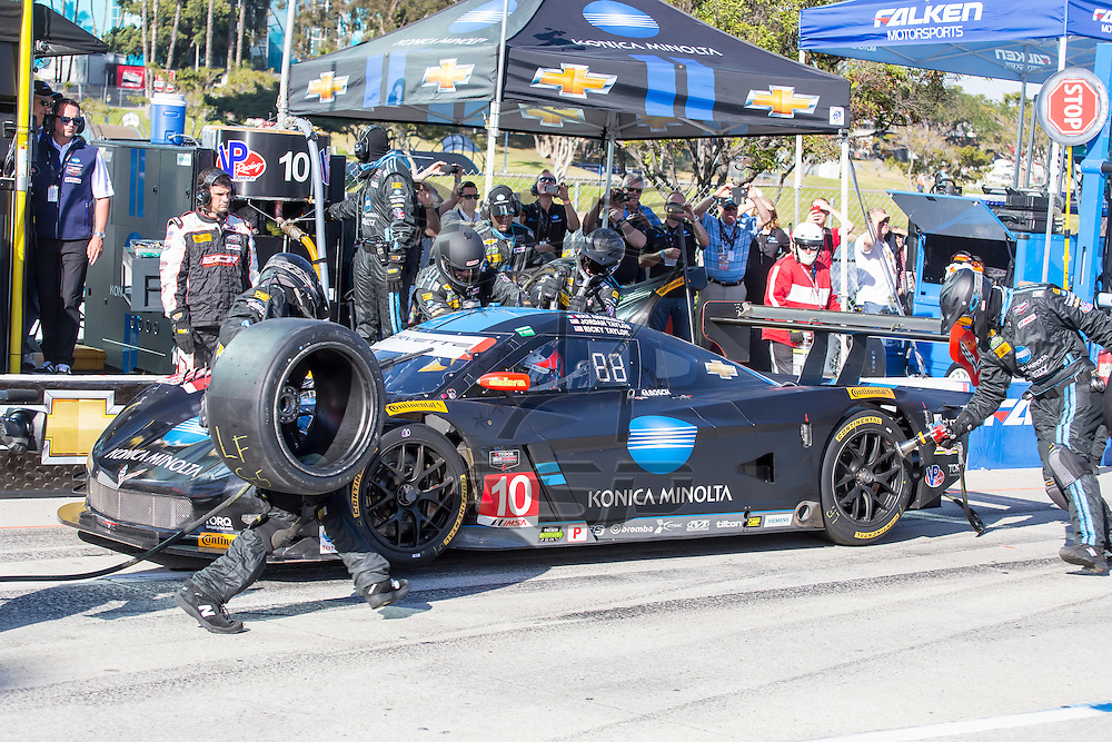 Long Beach, CA - Apr 18, 2015:  The Tudor United SportsCar Championship teams take to the track for the Tequila Patron Sports Car Racing Showcase at Long Beach Grand Prix in Long Beach, CA.
