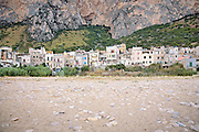 The seashore of Vergine Maria in Palermo; an old seaside village near Palermo ruined by the illegal buildings and the pollution of the sea.<br />