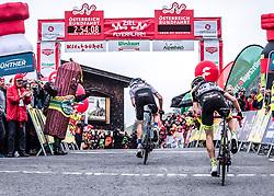 12.07.2019, Kitzbühel, AUT, Ö-Tour, Österreich Radrundfahrt, 6. Etappe, von Kitzbühel nach Kitzbüheler Horn (116,7 km), im Bild v.l. Aleksandr Vlasov (RUS, Gazprom - Rusvelo) Etappensieger, Patrick Schelling (Team Vorarlberg Santic) // f.l. stage winner Aleksandr Vlasov of Russia (Gazprom - Rusvelo) Patrick Schelling of Switzerland (Team Vorarlberg Santic) during 6th stage from Kitzbühel to Kitzbüheler Horn (116,7 km) of the 2019 Tour of Austria. Kitzbühel, Austria on 2019/07/12. EXPA Pictures © 2019, PhotoCredit: EXPA/ Reinhard Eisenbauer