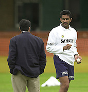 Photo Peter Spurrier.20/06/02.Indian training session at the nets - Lords.Anil Kumble 20020620, India Test Team, Nets, Lords. [Mandatory Credit Peter Spurrier:Intersport Images]