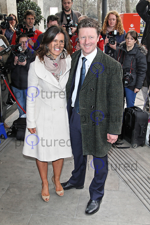 LONDON - MARCH 13: Susanna Reid; Charlie Stayt attend the TRIC Awards at the Grosvenor House Hotel, London, UK. March 13, 2012. (Photo by Richard Goldschmidt)