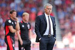 Manchester United manager Jose Mourinho looks on - Rogan Thomson/JMP - 14/08/2016 - FOOTBALL - Vitality Stadium - Bournemouth, England - Bournemouth v Manchester United - Premier League Opening Weekend.