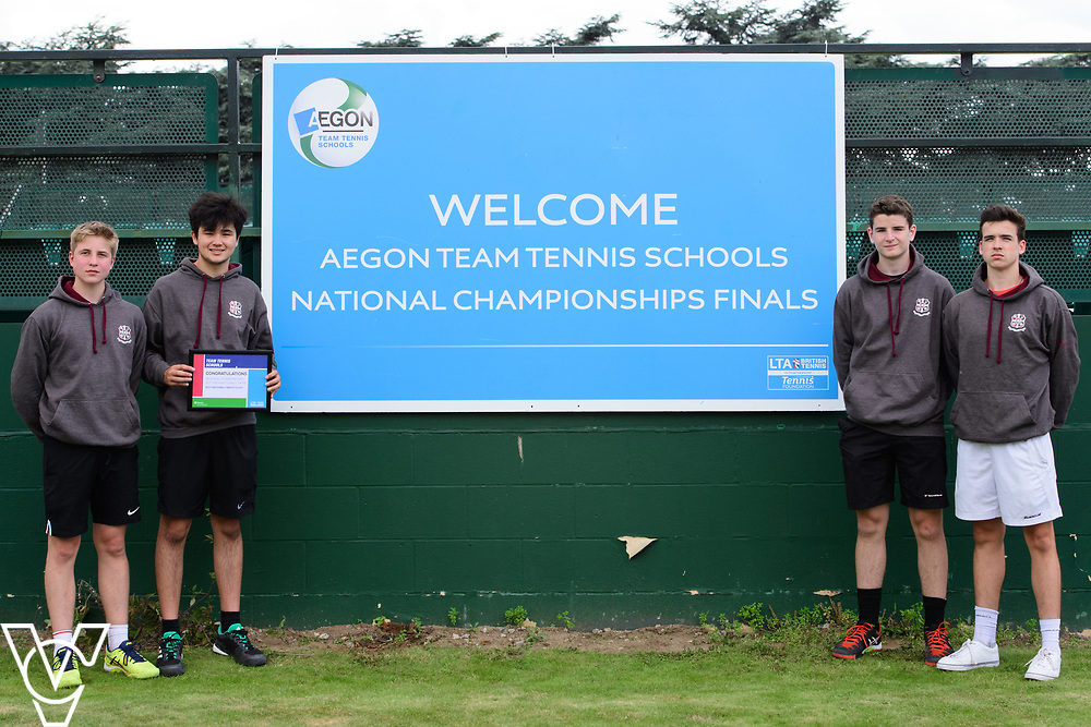 Aylesbury Grammar School<br /> <br /> Team Tennis Schools National Championships Finals 2017 held at Nottingham Tennis Centre.  <br /> <br /> Picture: Chris Vaughan Photography for the LTA<br /> Date: July 14, 2017