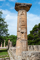 Olympia, Greece. The site of the Olympic Games in classical times. Temple of Hera.