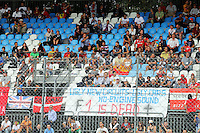 A banner from unhappy F1 fans proclaiming 'F1 is Dead'.<br /> Italian Grand Prix, Friday 5th September 2014. Monza Italy.