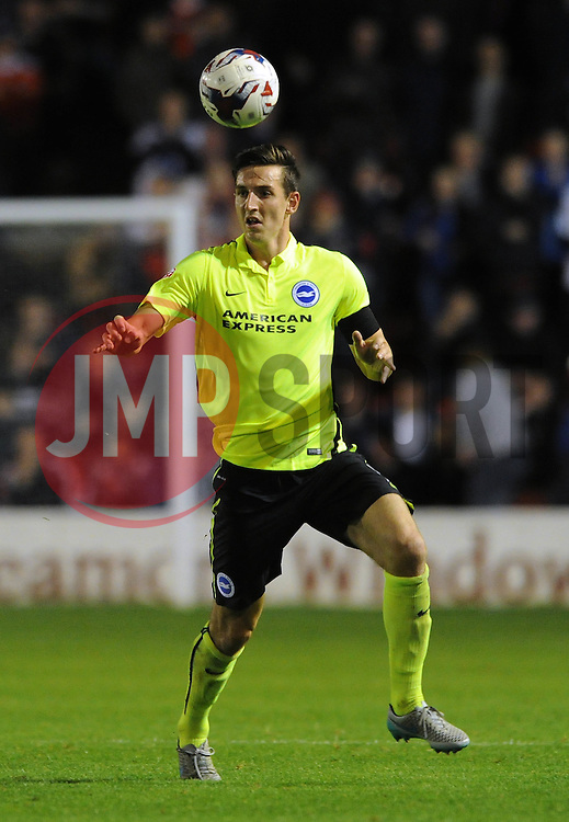 Lewis Dunk of Brighton & Hove Albion - Mandatory byline: Dougie Allward/JMP - 07966386802 - 25/08/2015 - FOOTBALL - Bescot Stadium -Walsall,England - Walsall v Brighton - Capital One Cup - Second Round